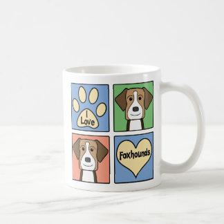I Love American Foxhounds Mugs