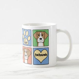 I Love American Foxhounds Coffee Mugs