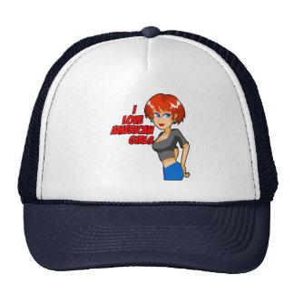 I Love American Girls Cap Trucker Hat