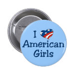 I Love American Girls Pinback Buttons