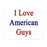 I Love American Guys Postcards
