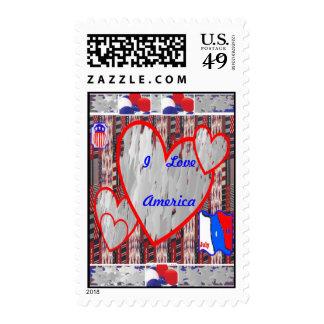 I Love American ~ July Fourth Stamp