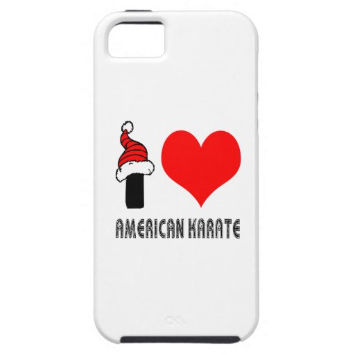 I Love American Karate Design iPhone 5 Covers