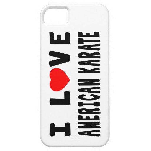 I Love American Karate Martial Arts iPhone 5 Case