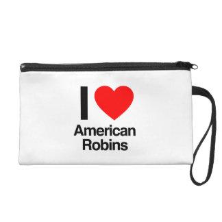 i love american robins wristlet purse