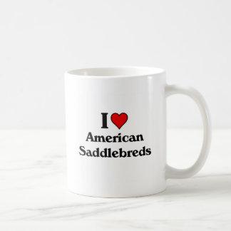 I love american saddlebred horses coffee mug
