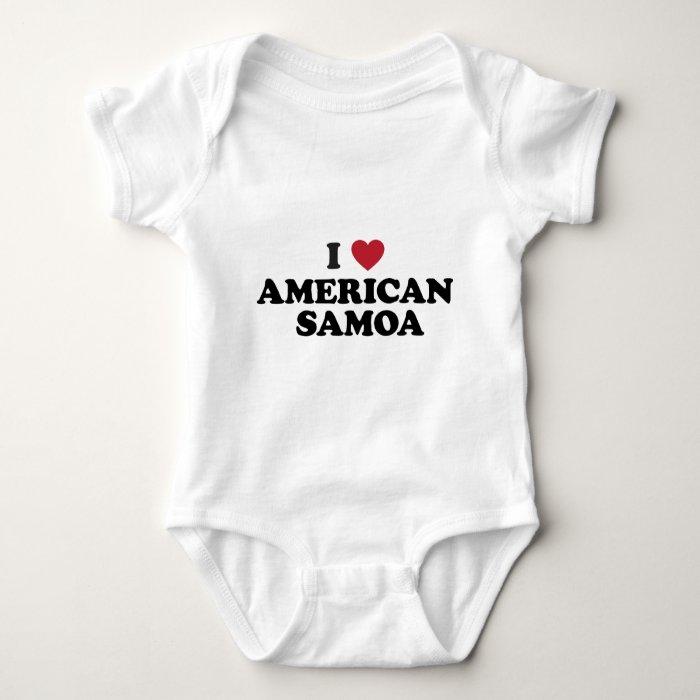 I Love American Samoa Baby Bodysuit