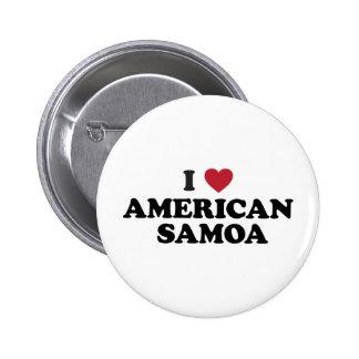 I Love American Samoa Button