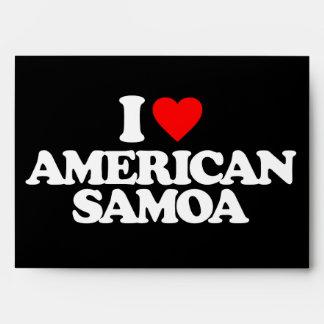 I LOVE AMERICAN SAMOA ENVELOPES