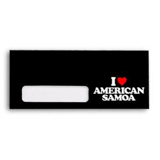I LOVE AMERICAN SAMOA ENVELOPE