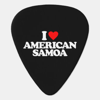 I LOVE AMERICAN SAMOA GUITAR PICK