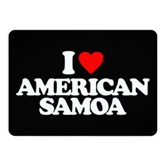 "I LOVE AMERICAN SAMOA 5"" X 7"" INVITATION CARD"