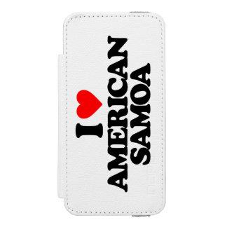 I LOVE AMERICAN SAMOA iPhone SE/5/5s WALLET CASE