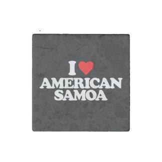 I LOVE AMERICAN SAMOA STONE MAGNET