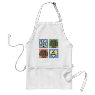 I Love American Water Spaniels Adult Apron