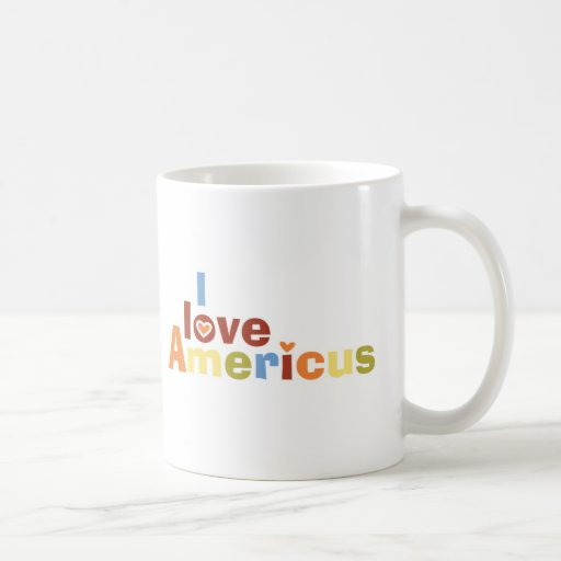 I love Americus MultiColor Coffee Mug