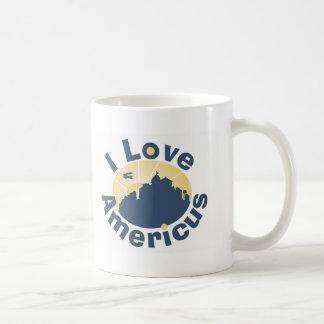 I Love Americus with Official Logo art Coffee Mug