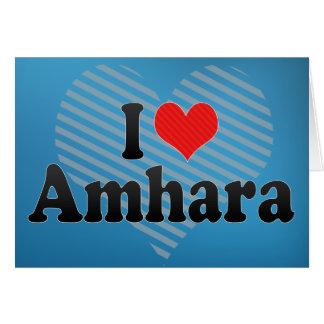 I Love Amhara Card