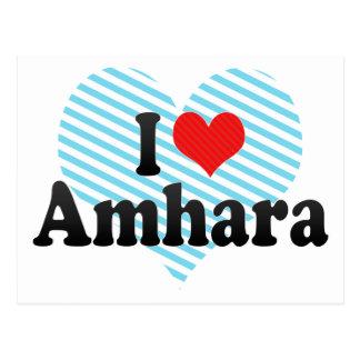 I Love Amhara Postcard