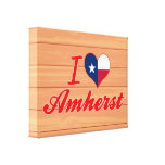 I Love Amherst, Texas Gallery Wrap Canvas