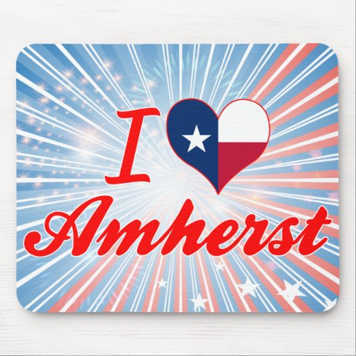 I Love Amherst, Texas Mouse Pad