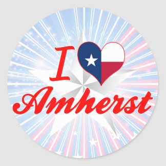 I Love Amherst, Texas Stickers