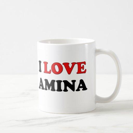 I Love Amina Classic White Coffee Mug