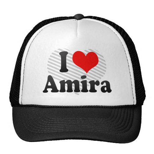 I love Amira Trucker Hat