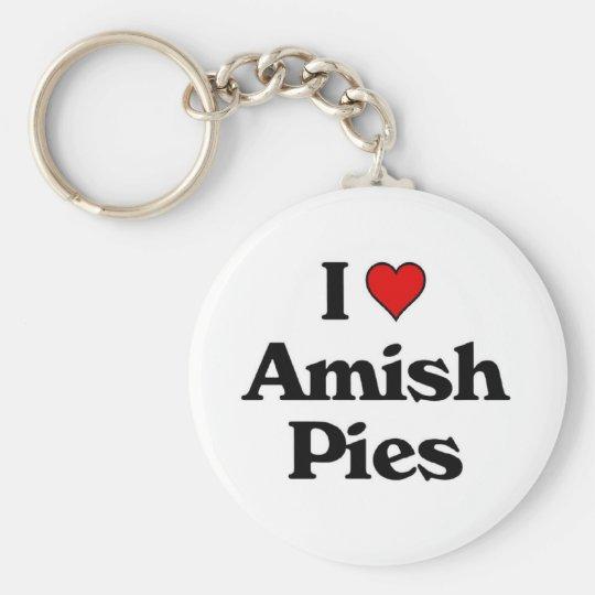 I love Amish Pies.jpg Keychain