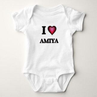 I Love Amiya Baby Bodysuit