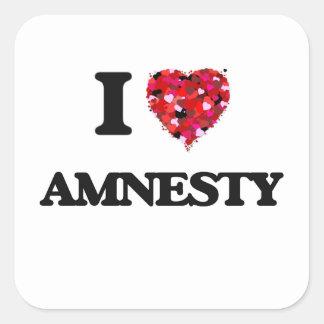 I Love Amnesty Square Sticker