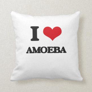 I love Amoeba Throw Pillows
