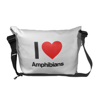 i love amphibians courier bag