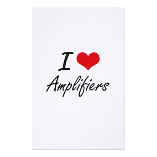 I Love Amplifiers Artistic Design Stationery