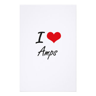 I Love Amps Artistic Design Stationery