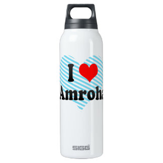 I Love Amroha, India Insulated Water Bottle