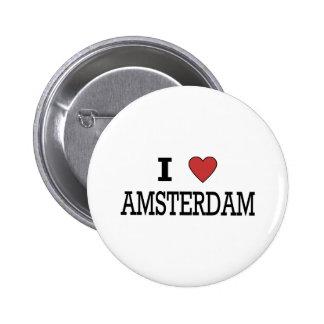 I Love Amsterdam Pinback Button