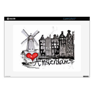 I love Amsterdam Laptop Decal