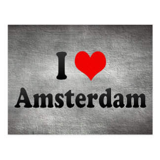 I Love Amsterdam, Netherlands Postcard