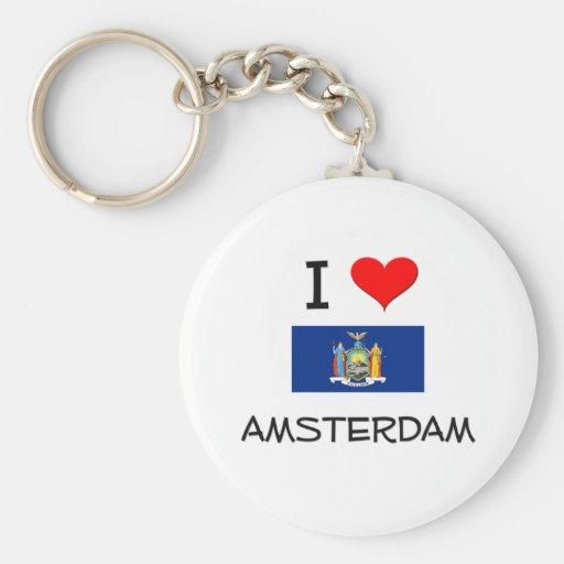 I Love Amsterdam New York Keychains
