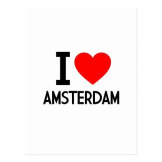 I Love Amsterdam Postcard