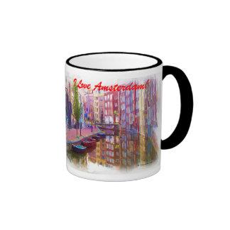 I Love Amsterdam! Ringer Mug