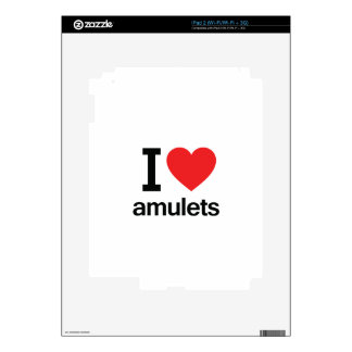 I Love Amulets Decals For iPad 2