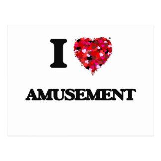 I Love Amusement Postcard