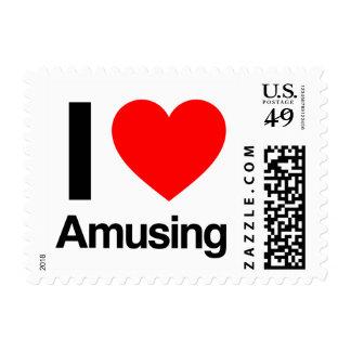 i love amusing stamp