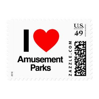 i love amusment parks stamp