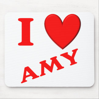 I Love Amy Mouse Pad