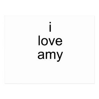I Love Amy Postcard
