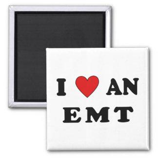 I Love An EMT 2 Inch Square Magnet