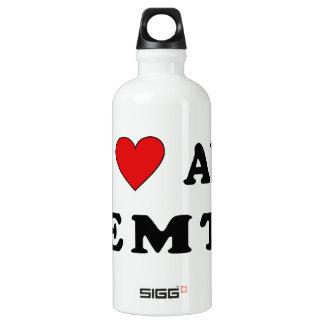 I Love An EMT Aluminum Water Bottle
